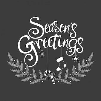 Typ czcionki skryptowej pozdrowienia sezonu