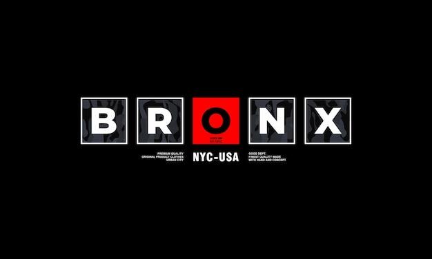 Typografia bronx do koszulki z nadrukiem