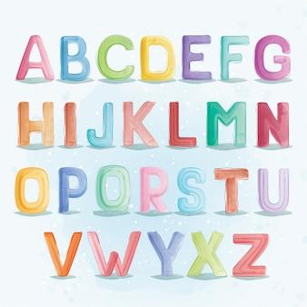 Typografia czcionki alfabetu az