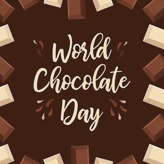 Typografia czekoladowa z napisami czekoladowymi.