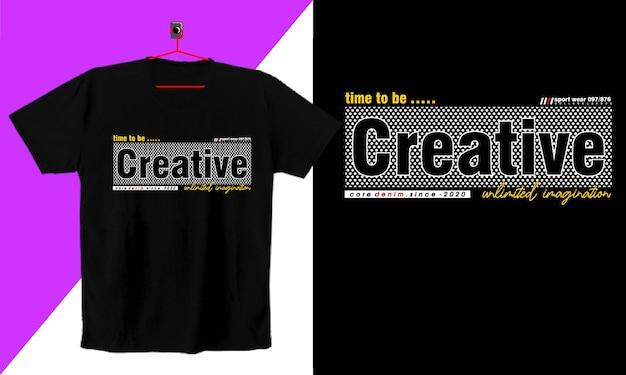 Typografia do koszulki z nadrukiem