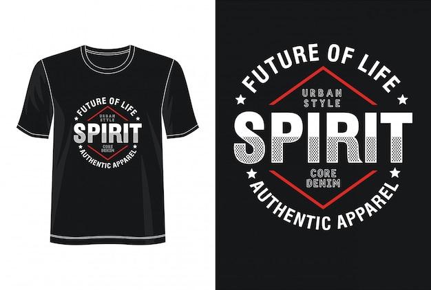 Typografia ducha na koszulce z nadrukiem