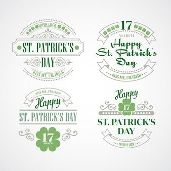 Typografia dzień świętego patryka. ilustracja