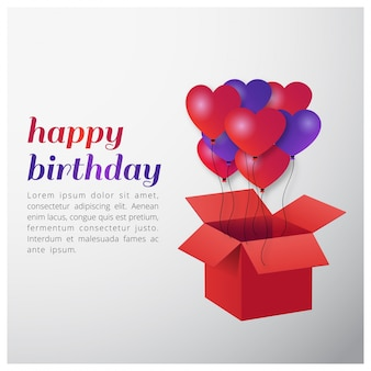 Typografia happy birthday