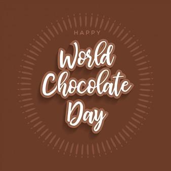 Typografia happy day czekolady
