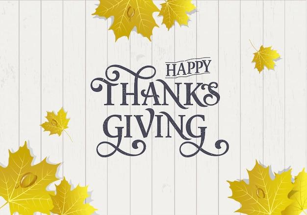 Typografia happy thanksgiving day
