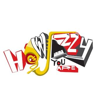 Typografia jazzowa wektor na plakat