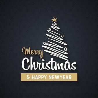 Typografia kartki świąteczne pozdrowienia z tło wzór
