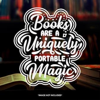 Typografia książki cytaty projekt
