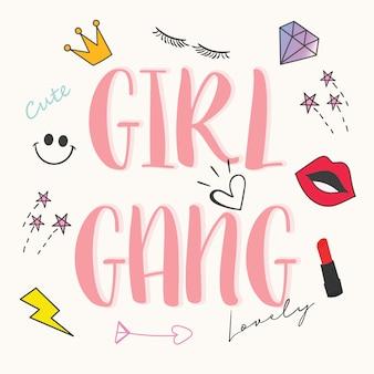 Typografia projekt dziewczyna.