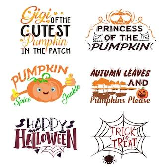 Typografia projekt koszulki na halloween