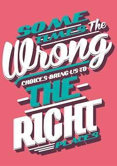Typografia, slogan i cytat