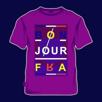 Typografia t shirt projektowanie graficzne