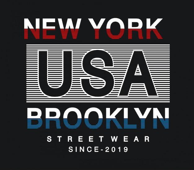 Typografia usa na koszulkę z nadrukiem