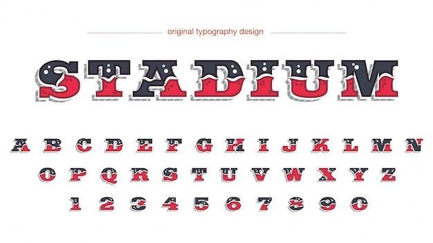 Typografia w stylu zachodnim