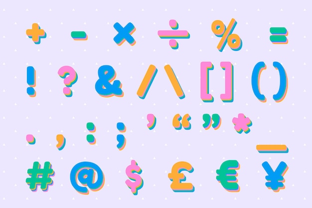 Typografia zabawny znak