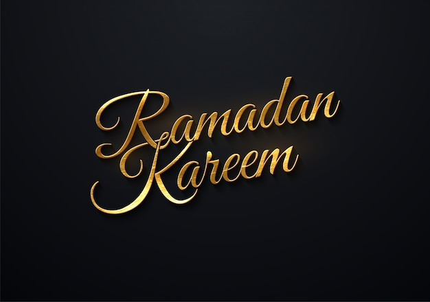 Typograficzna ilustracja odręcznie retro etykiety ramadan kareem z promieni świetlnych. kompozycja napis muzułmańskiego świętego miesiąca.