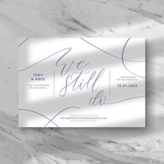 Typograficzne przełożone motyw karty ślubu