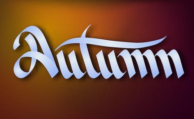Typograficzny szablon sezonowy z elegancką kaligrafią