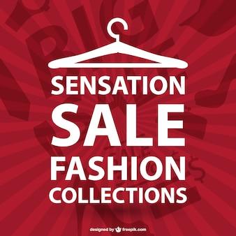 Typograficzny wektor moda na zakupy