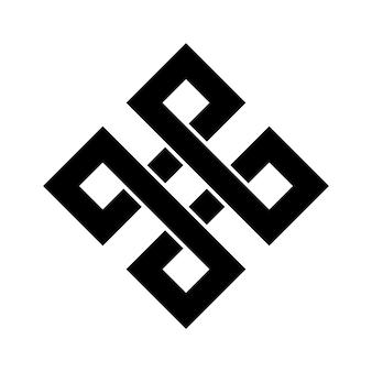 Typowe egipskie motywy asyryjskie i greckie wektor symbol grecki klucz arabski sztuki islamskiej