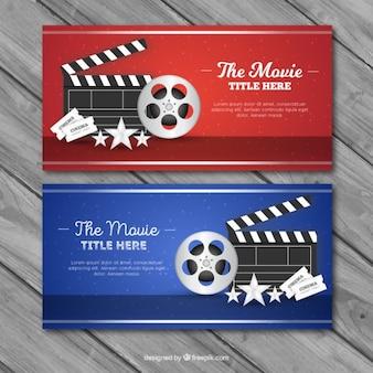 Typowe elementy banerów kinowych