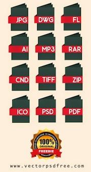 Typy plików i folderów, ikony