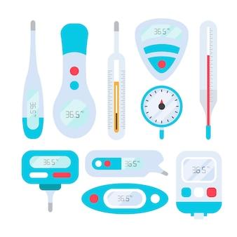 Typy termometrów w płaskiej konstrukcji