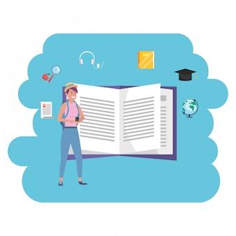 Tysiącletnia edukacja online otwarta książka