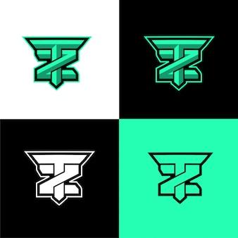 Tz początkowy szablon logo sportu