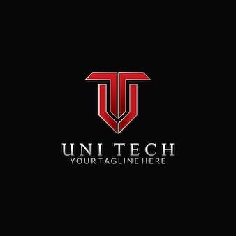 U & t vector logo design
