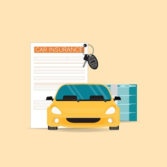 Ubezpieczenie samochodu z formularzem roszczenia.