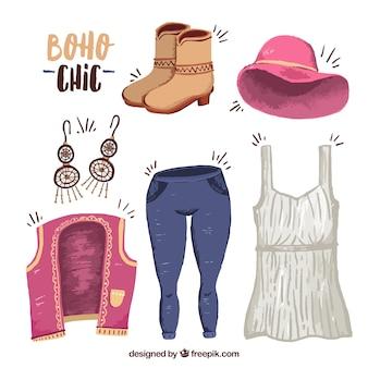 Ubrania i dodatki w stylu boho