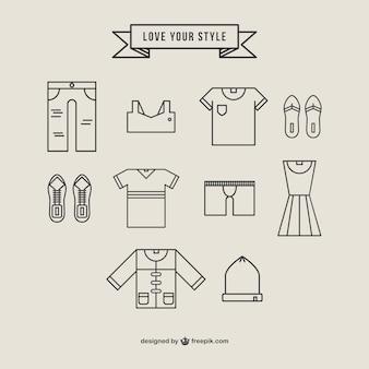 Ubrania w stylu ikony liniowa