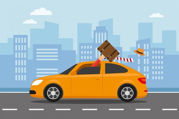 Uciekaj samochodem, aby podróżować na wakacje