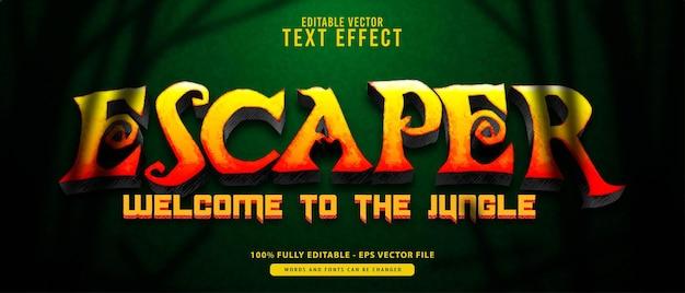 Uciekinier, vintage grunge złoty nowoczesny efekt tekstu edytowalnego. nadaje się do kinowych, tytułów filmowych