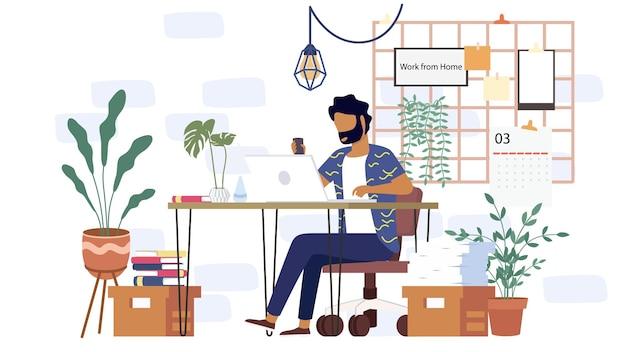 Ucz się w domu przez komputer online w minimalnym stopniu