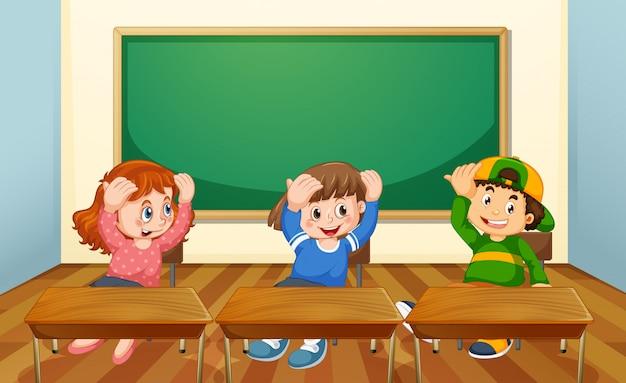 Uczeń w klasie