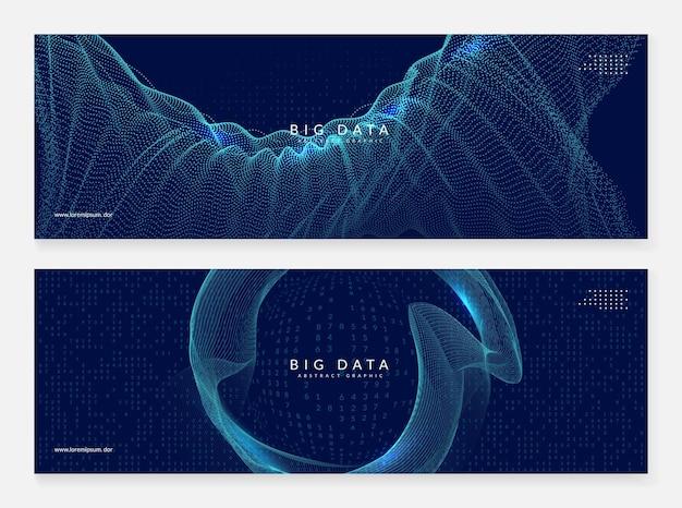 Uczenie się dużych zbiorów danych. technologia cyfrowa streszczenie tło. koncepcja sztucznej inteligencji. wizualizacja techniczna dla szablonu interfejsu. cyber big data uczenia się tło.