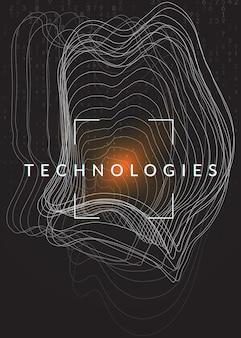 Uczenie się dużych zbiorów danych. technologia cyfrowa streszczenie tło. koncepcja sztucznej inteligencji. wizualizacja techniczna dla szablonu komunikacji. kolorowe tło uczenia się dużych danych.