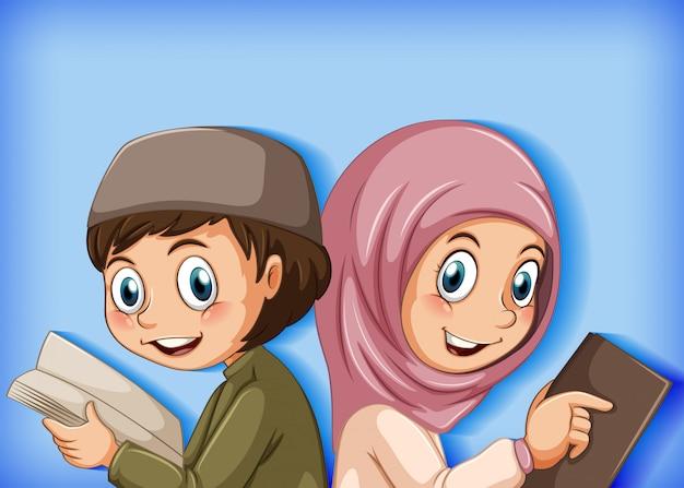 Uczniowie czytający książkę