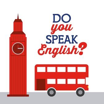 Uczyć się angielskiego projekt, wektorowa ilustraci eps10 grafika