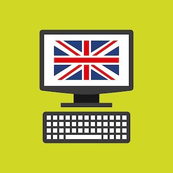 Uczyć się angielskiego studenckiego ikony