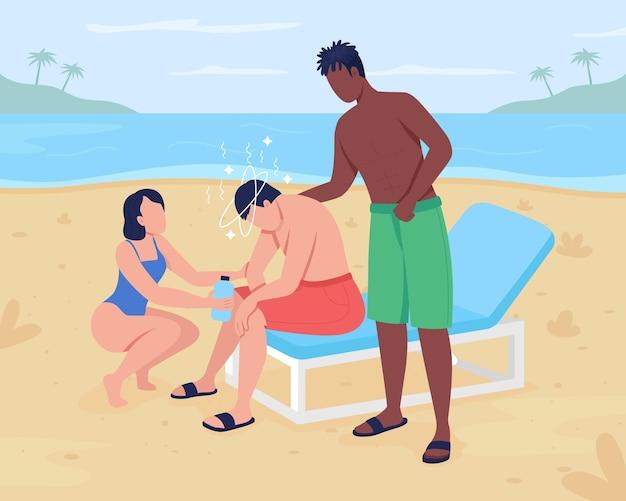 Udar cieplny na plaży?