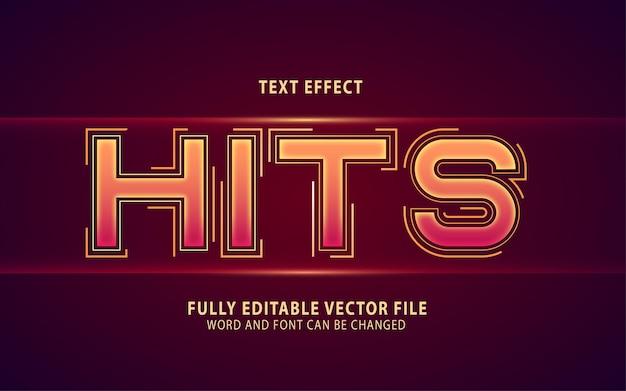 Uderza edytowalny efekt tekstu wektorowego