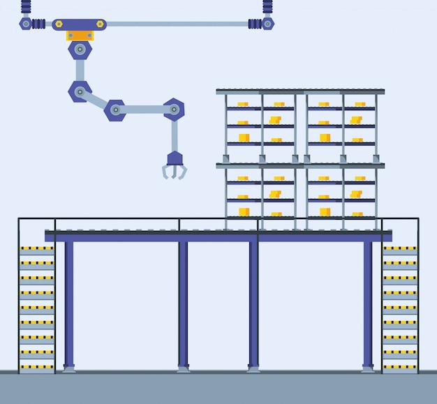 Udoskonalona scena fabryczna