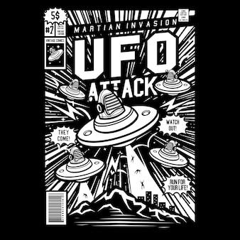 Ufo attack comic cover art. no.