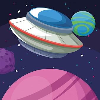 Ufo planety księżyc galaktyka astronomia eksploracja przestrzeni kosmicznej