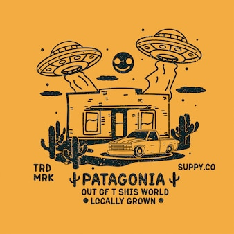 Ufo szturmowa projekt kawiarni ilustracja