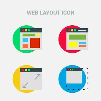 Układ design flat ikona zestaw szablonów